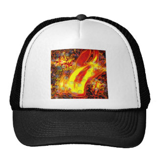 flame  water drops copy trucker hat