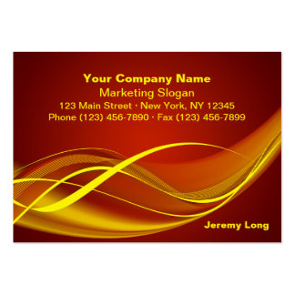 Flame Wave Business Card Template