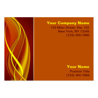 Flame Waves Large Business Cards (Pack Of 100)