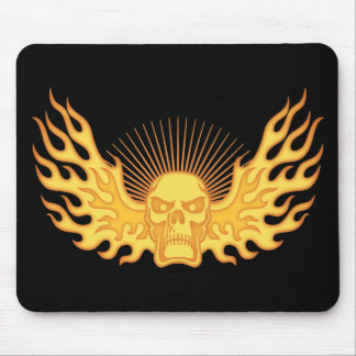 Flame-Wing-Skull Mouse Pad