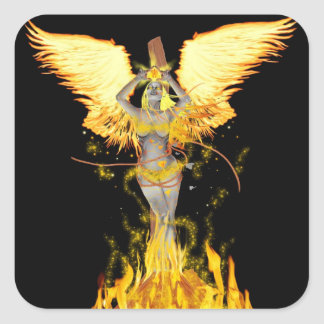 flame witch sticker