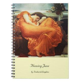Flamear junio por el cuaderno de Frederick Leighto