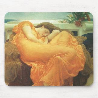 Flamear junio por Leighton, arte del Victorian del Alfombrilla De Ratón