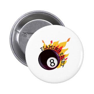 Flamear ocho pin redondo 5 cm