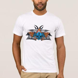Flamed Blue Skull T-Shirt