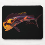 Flamed Dolphin Mousepad