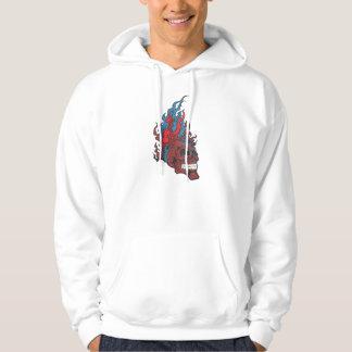 Flamed Fire Tattoo Skull Sweatshirt