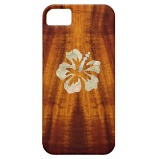 Flamed Koa with Hisbiscus iPhone SE/5/5s Case