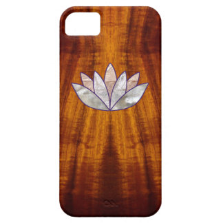 Flamed Koa Wood with Lotus Blossom iPhone SE/5/5s Case