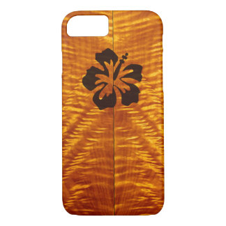 Flamed Maple with Hisbiscus iPhone 7 Case