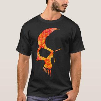 Flamed skull tee shirt