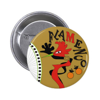 Flamenco 2 Inch Round Button