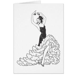 Flamenco_.ai Tarjeta De Felicitación