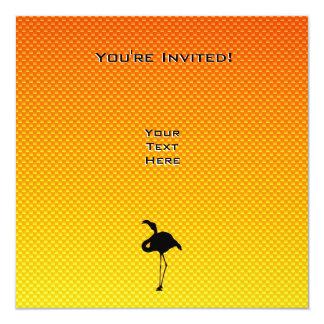"Flamenco amarillo-naranja invitación 5.25"" x 5.25"""