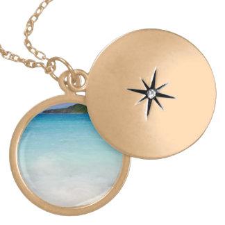 Flamenco Beach Culebra Gold Plated Necklace