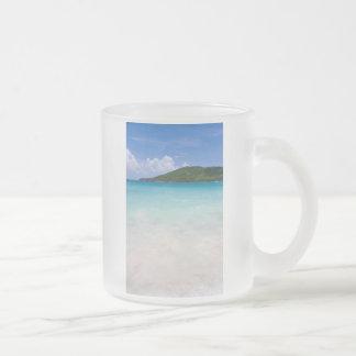 Flamenco Beach Culebra 10 Oz Frosted Glass Coffee Mug