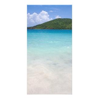 Flamenco Beach Culebra Customized Photo Card
