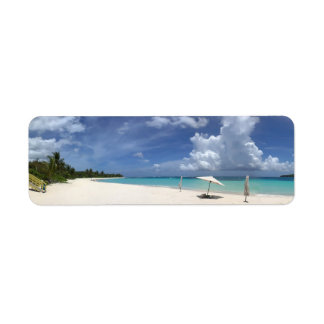 Flamenco Beach Culebra Puerto Rico Label
