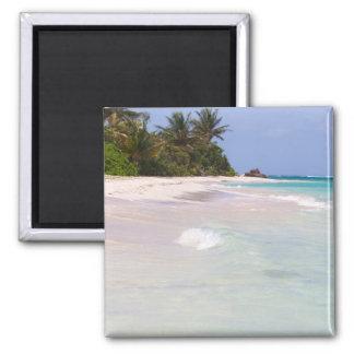 Flamenco Beach Culebra Puerto Rico 2 Inch Square Magnet