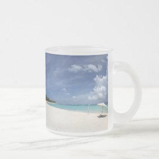 Flamenco Beach Culebra Puerto Rico 10 Oz Frosted Glass Coffee Mug