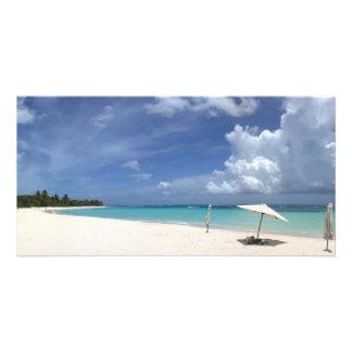 Flamenco Beach Culebra Puerto Rico Personalized Photo Card