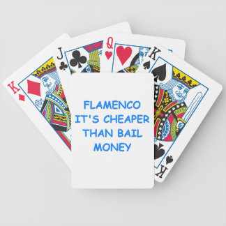 flamenco bicycle poker cards