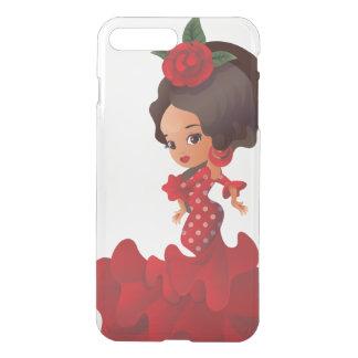 Flamenco cartoon chibi kawaii girl iPhone 8 plus/7 plus case