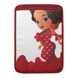 Flamenco cartoon chibi kawaii girl MacBook air sleeve