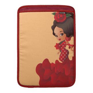 Flamenco cartoon chibi kawaii girl MacBook sleeve
