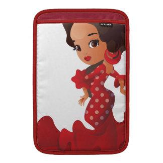Flamenco cartoon chibi kawaii girl sleeve for MacBook air