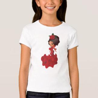 Flamenco cartoon chibi kawaii girl T-Shirt