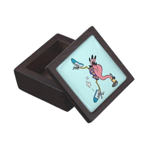 flamenco corriente que activa lindo tonto caja de regalo de calidad