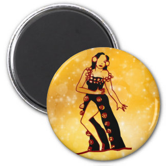 Flamenco dancer 2 inch round magnet
