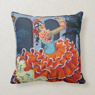 Flamenco Dancer American Mojo Pillow/Cushion Throw Pillows