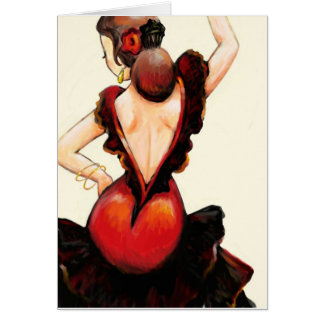 Flamenco Dancer Blank Notecard