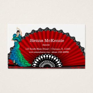 Flamenco dancer business card