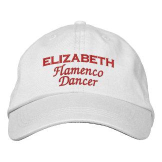 Flamenco Dancer Custom Name A03 Embroidered Baseball Caps