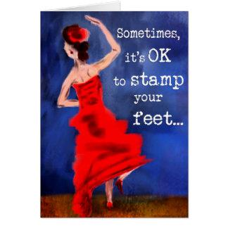 Flamenco Dancer Inspirational Design Card