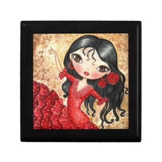 """Flamenco Dancer"" Jewelry Box"