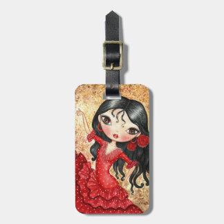 """""""Flamenco Dancer"""" Luggage Tag"""