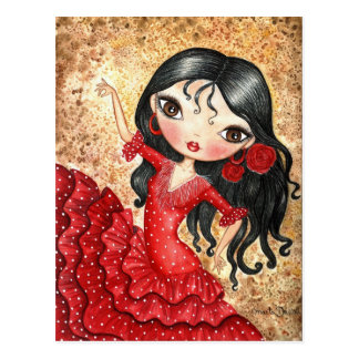 """Flamenco Dancer"" Postcard"