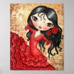 """""""Flamenco Dancer"""" Poster"""