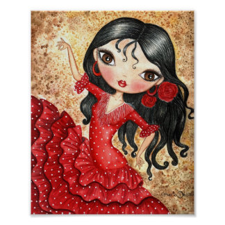 """Flamenco Dancer"" Poster"