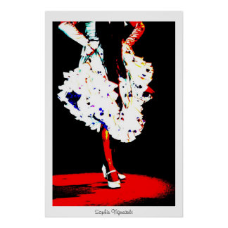 """Flamenco dancer"" poster Print"