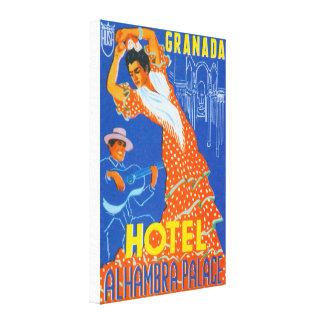 Flamenco Dancer Spain Canvas Print