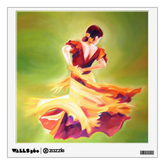 Flamenco Dancer Wall Decal
