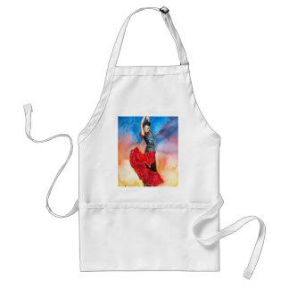 FLAMENCO DANCER watercolour Adult Apron