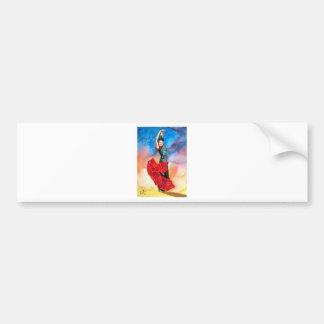 FLAMENCO DANCER watercolour Bumper Sticker