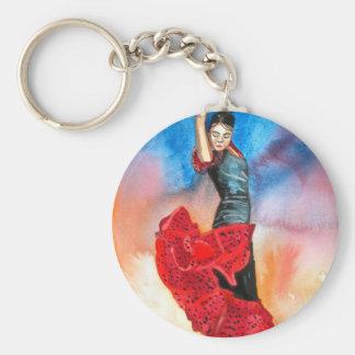 FLAMENCO DANCER watercolour Keychains