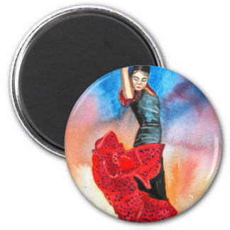 FLAMENCO DANCER watercolour Magnet